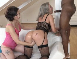 Ally Style & Licky Lex - two bitches going crazy for fist in the pussy and two cocks in the ass Part 1 IV137