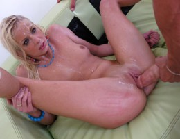 Tight blonde slut gets her pussy fucked hard!