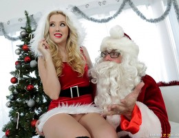 Samantha Rone has been very good this year, and there's only one thing she's asking Saint Nick for: a big cock of her very own to please her tight teen pussy! With a snap of his magic fingers, jolly old Saint Nick brings Samantha exactly what she wants, a