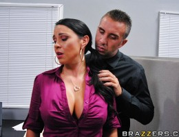 Mariah is tired of her boss Keiran always looking at her like a sexual slave. Mariah approaches her boss for an advance but is denied. Mad, Mariah complains that he\'s always grabbing her tits and that no other chick would allow that but Keiran has a line