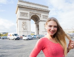 Lucy Heart French Slut Welcomes Manuel to Paris with Anal Sex