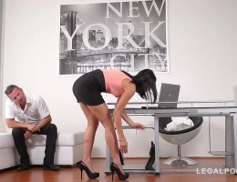 Office daydreamer imagines ass fucking sexy mini-skirt intern Coco De Mal GP628