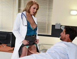 Dr. Wylde loves her job. Helping the sick and the needy is its own reward, as far as shes concerned, but when a grumpy patient named Mr. Gunn get a huge stiffy in the middle of an examination, she decides to help herself to some workplace benefits! Tomm