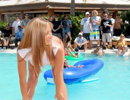 Amazing hot ass teenie bikini babes compete to win cash in this hot poolside contest turned into fucking and sucking check out these hot reality vids