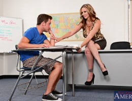 Julia Ann takes her teaching job very serious and makes sure that she leaves no one behind in terms of their education. When she notices that one of her students hasn\'t been doing great she decides to spend extra time with him after class in hopes of