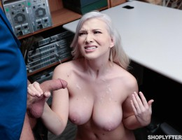 Emily Right gets caught shoplifting and gets punished