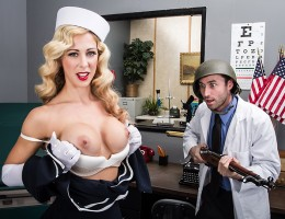 Everyone can do something to help with the war effort! For Cherie Deville, her smokin\' hot good looks are perfect for stopping the enemy in his tracks. She\'s so hot, even her creator Dr. Deen can\'t hold back, and plows her pussy every day. If you don\'