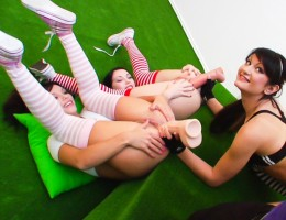 Behind the Scenes footage from scene 2 of Anal Acrobats #06