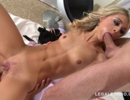 Sexy stunner Chloe Lacourt goes nuts over two dicks in epic XXX threesome GP741