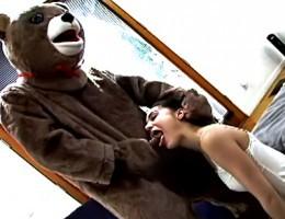 Cute Girl Playing With Her Favorite Teddy Bears Huge Dick