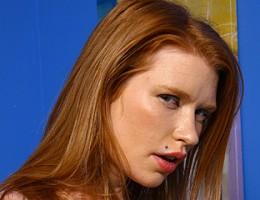 Redhead interracial threesome, fuck & cumeating