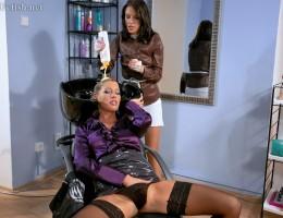 Very dirty lesbian babes love rubbing their moist muffs