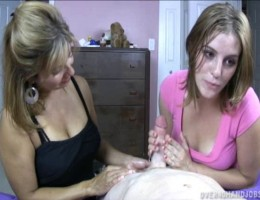 Mom and Teen Handjob Madness