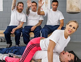 Fighting master Julia Ann is faced with four sorry chumps, and she has to try to turn them into strong cadets that can fight swiftly and with confidence. But only Keiran has the necessary abilities to overcome Julia\'s powerful titties and end up on top..