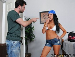 James Deen has had enough. In all his years of owning his hostel, not once has he met anyone like Amy. She smokes, drinks, fucks, and plays loud music all day. When he kindly asks her to turn down the music, she sends him packing. That's ok, he'll find a