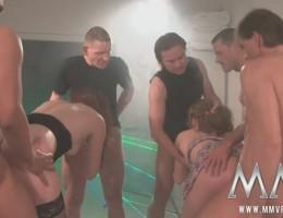 Twl sluts enjoys big loads of bukkake cum fun