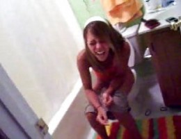 Low res teens in bathroom fun