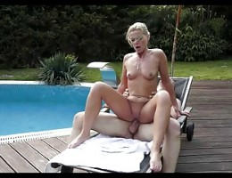 Mature Fucked Near The Pool.