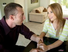 Sexy college babe Alyssa Branch has hot sex with her sugar daddy for her allowance.