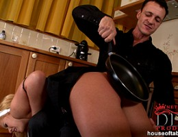 Zorah White is spanked hard and dominated by Mr. Frank Gun!