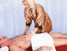 Kierstin Koyote and Ike Diezel Halloween Hangover Massage