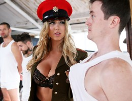 Jay Snake is a fresh recruit on his first day of boot camp, and he\'s pretty nervous about meeting his drill sergeant. Imagine his surprise, then, when busty blonde Lexi Lowe walks in! She\'s sizing up all the newbies when she notices Jay\'s big dick and