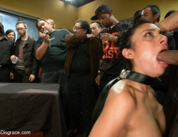 Beretta James becomes the life of the party as she is stripped, fucked, humiliated, and fisted by Lorelei and all her guests.