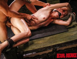 Girls like Halle Von are just made for being humiliated? spanked, slapped, gag-balled, spit on, whipped, ravaged by fucking machines? whatever. It\'s something in the way they look and the way their body language says ?violate me in every possible way? Ev