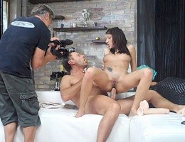 Behind the scene look at Rocco\'s hard ass-fuck with Abelia