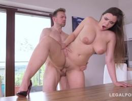 Hard & deep anal penetration makes curvy Sofia Lee\'s big natural tits shake GP750
