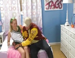 Cheerleader Jennifer Slamme Fucking with her Boyfriend