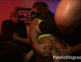 Ava Devine gives a PUBLIC display of DOUBLE ANAL, FISTING, and STRAP ON ACTION to a bar full of strangers.