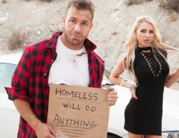 Petite Alix Lynx is cheating on her husband with a homeless