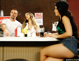 Kelly Diamond has been bouncing around from job to job for a while, never able to find something that holds her attention. So when a waitress at the local diner tells her that the biggest perk of working there is the boss\'s huge cock, she fills out an ap