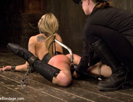 Shy pretty blue eyed Dahlia signs up for a day on Device & gets exactly what she asked for. Contorted painful bondage, pain & uncontrollable orgasms.