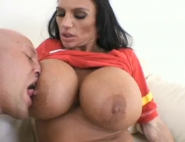 Giant boobs lisa lipps covered in cum
