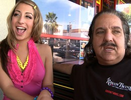 Teen slutbag picks up Ron Jeremy and fucks him!