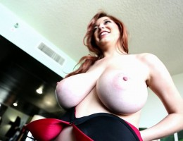 Hey there gang, are you ready for another fun big boobs bonanza here on a Friday to take you into your weekend? I certainly hope that you are, because I for one am ready to show off my huge tits and this sexy red bra ... both in AND out of the bra!