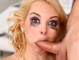 Aaliyah Love gets teary-eyed deepthroating a big cock