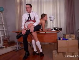 Submissive schoolgirl Blue Angel spanked & fucked hardcore by teacher GP781