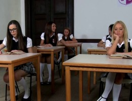 Two Euro College Girls \'Punished\' By Teacher
