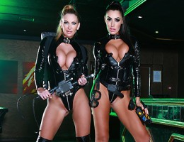 Someone\'s been running around causing chaos in a local club, so the owners had no choice but to call in the world\'s foremost experts in erotic apparitions, the Porn Busters! The two busty beauties can tell right away that the place has a porn star probl