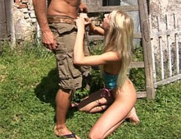 Eighteen years old and fucking a guy his brains out outdoor