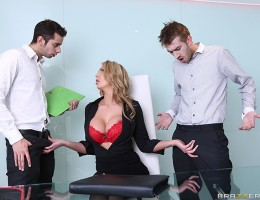 Leigh Darby is Danny D\'s busty boss, and she\'s a real hard case. When she fires her assistant for spilling a drink, there\'s a new job opening at the office, and both Danny and his coworker Chris want the position. Chris shows off his winning attitude a
