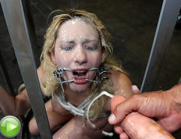 Dirty slut disgraced with monster cumshots!