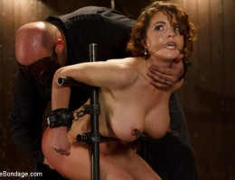 Krissy and her huge tits suffer all day to Sgt. Major