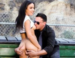 Anthony Rosano fucks his ex babysitter Maya Bijou outdoors