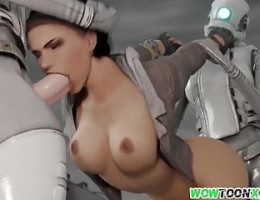 Titjob from 3D babes and ass hammering