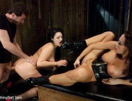 Ass play, domination and rough sex with sexy latex sluts!