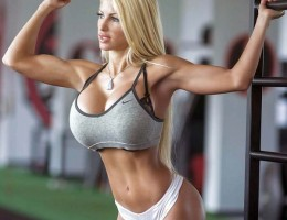 Huge boobs fitness model Angelika Baj